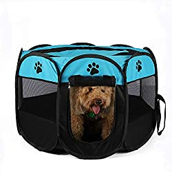 Foldable Outdoor Dog Playpen Ideal for Pet Dogs Cats Outdoor/Indoor (Color : B, Size : 909058cm)