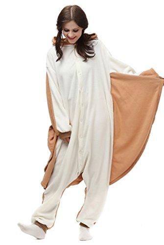 Love Millie Kigurumi Animal Cute Adult Onesie Pajamas Costume Cosplay flying squirrel S (Plus Size Squirrel Costume)