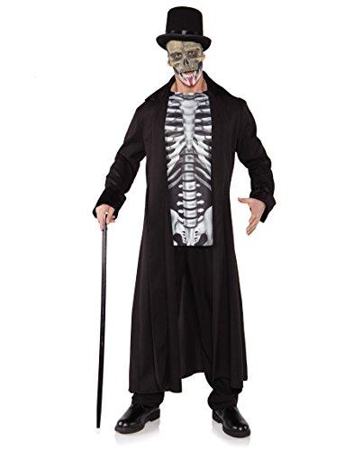 Underwraps Men's Skull Master, Black/Grey/White, One (King Hippo Costume)
