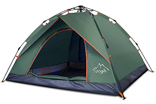 Waterproof 2 & 3 Person Camping Tent - Toogh 3 Season Backpacking tent Sundome pop up Tents for Outdoor Sports