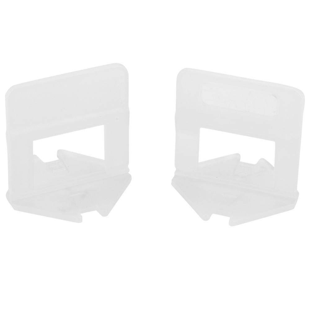 Tile Leveling Clip Spacer 100pcs/Set Plastic Disposable Floor Wall Tile Leveling Clips Wedge Height Adjustable Joint Assistant Tool (White-2.5mm)