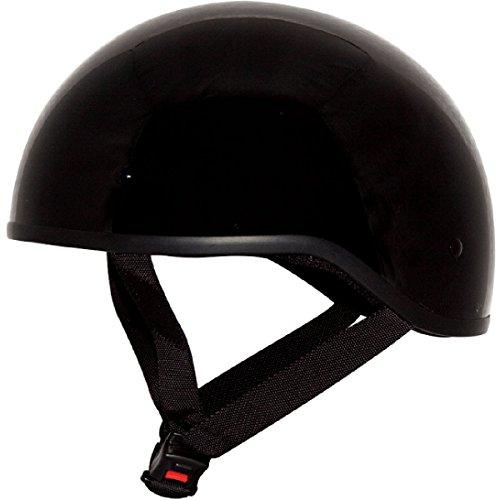 Price comparison product image ZOX Unisex Adult Mikro Old School Gloss Black Half Helmet Z88-00705