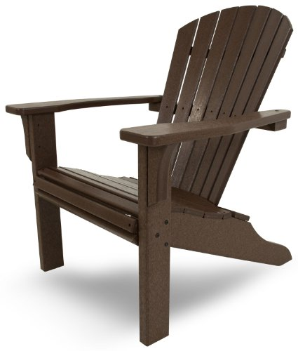 POLYWOOD SH22MA Seashell Adirondack, Mahogany (Mahogany Furniture Teak &)