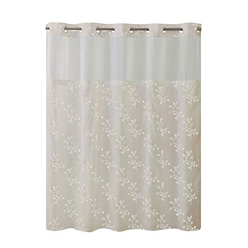 Hookless RBH40MY027 Spring Leaves Shower Curtain with Peva Liner -  Taupe