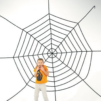JUMBO 11FT PLUS HALLOWEEN CREEPY SPIDER WEB! -