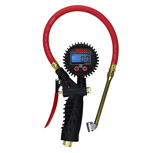 Milton Industries S-576D Pro Digital Pistol Grip Inflator Gauge - Dual Head Chuck and 15