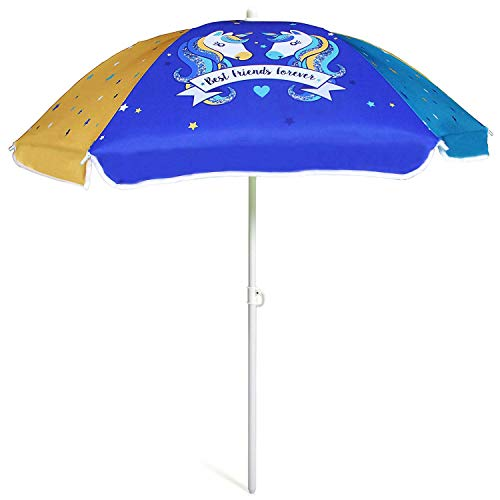 AMMSUN 47 Inch Seaside Beach Umbrella for Sand and Water Table - Kids Durable Umbrella Beach Camping Garden Outdoor Play Shade