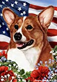 Welsh Corgi Pembroke Dog - Tamara Burnett Patriotic I Garden Dog Breed Flag 12'' x 17''