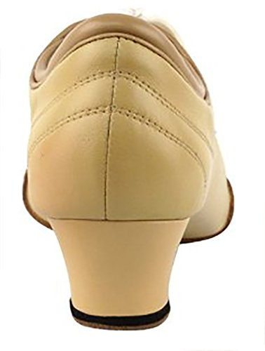 Very Fine Shoes Ladies Practice & Cuban Heel Competitive Dancer Series CD1121 1.5 Heel (4.5, Nude Leather)