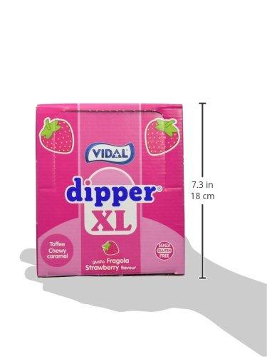 Vidal Dipper Xl Fresa Caramelo Masticable Sin Gluten - 100 unidades: Amazon.es: Alimentación y bebidas