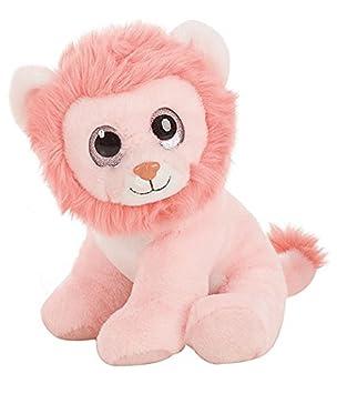 Fieras - Peluche León rosa 30cm ojos brillantes - Calidad super soft