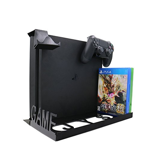 IVSO PS4 VR Wall Mount, 4 in 1 Smart Game Pad Hanger - Display Wall Mounting Kit with Adjustable Height and Width for PlayStation 4/PS4S/PS4 Pro Xbox One S Console