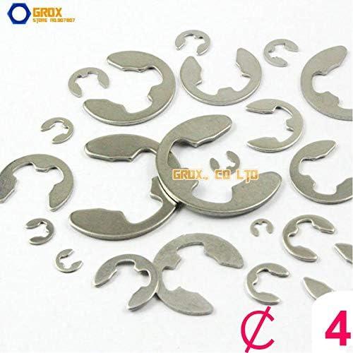 Ochoos 600 Pieces 4mm Steel E Circlip Retaining Ring Galvanized