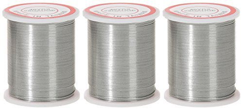3-PACK - Darice 28-Gauge Beading Wire, 40-Yard, Silver (French Wire Bullion)