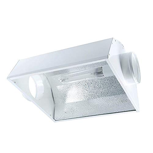 iPower 6 Inch Air Cooled Reflector Hood for HPS MH Grow Light (Best Air Cooled Reflector For 1000w)