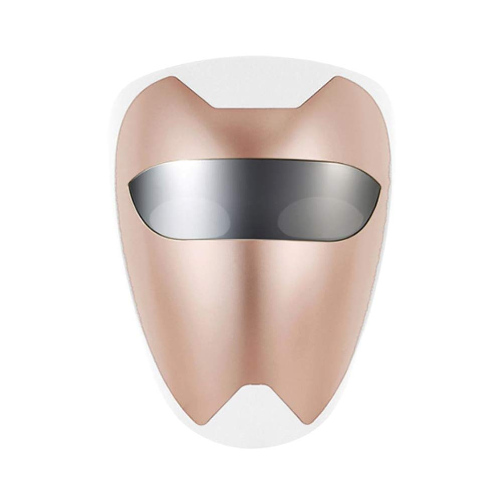 PURISKIN LED Face Mask (02 Rose Gold) - Skincare Facial Home Therapy Treatment Device for Improving Wrinkles Rejuvenation Anti-Aging Soothing Tightening Whitening