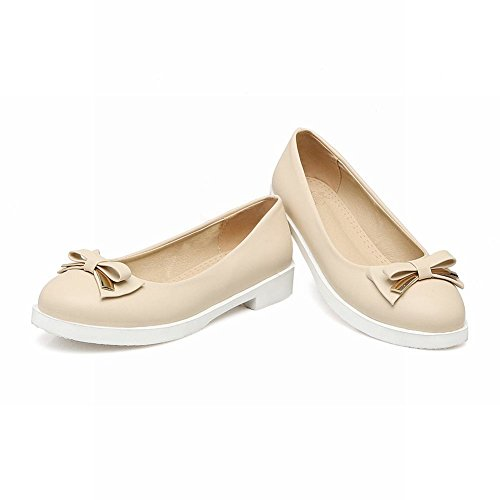 Lolita Loafers Bows Flats Shoes Womens Carolbar Beige Sweet Cute Party vXX41p