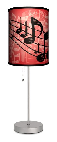 Music - Red Musical Notes Sport Silver (Red Music Note)