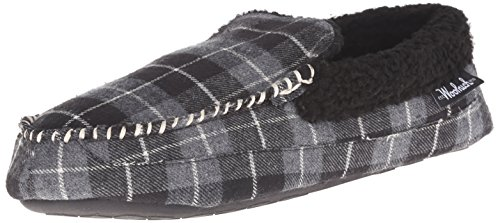 Woolrich Men's Camper Slipper, Charcoal Plaid, 10 M US