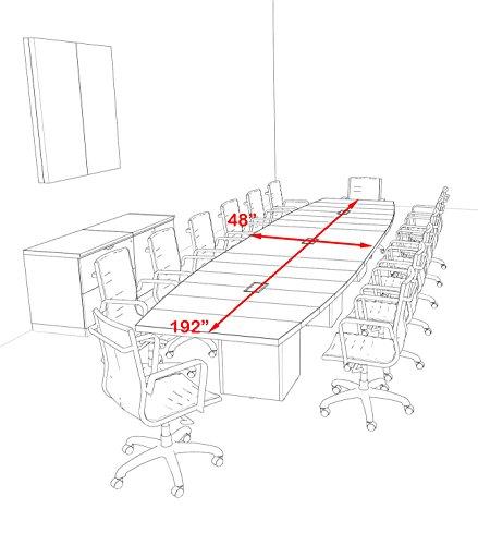 Amazon Com Modern Boat Shaped Cube Leg 16 Feet Conference Table