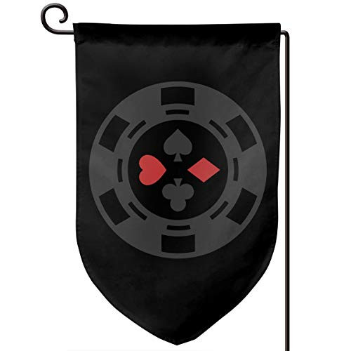 Garden Flag 12.5-18in Size Banner for House Decoration- Four Suit Poker Chip