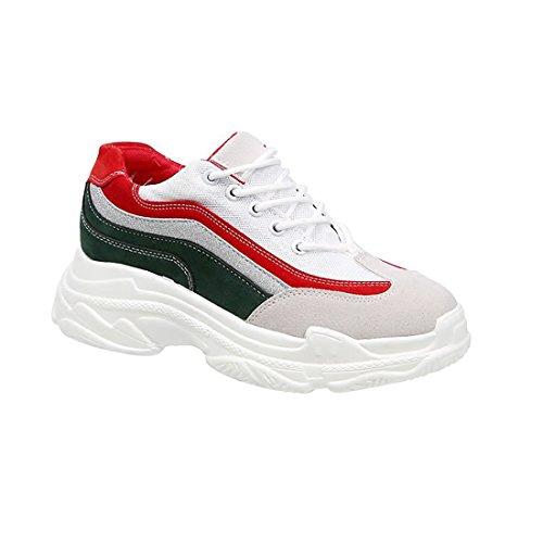 Para FKMI rojo de Zapatillas Running y blanco Mujer wttFvr