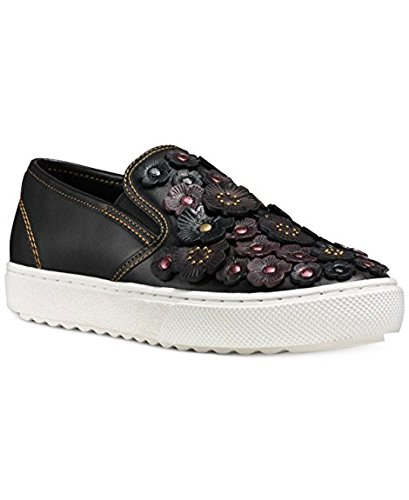 Leather Metallic Low Top Coach Rose Sneaker Tea tqTRnRExUg