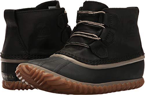 Snow Boots Rain (SOREL Women's Out N About Leather Rain Snow Boot, Black, 6 M US)