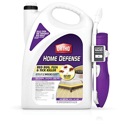 Ortho 0202510 Home Defense Bed Bug, Flea and Tick Killer with Comfort Wand 0.5 gal (Best Stuff To Kill Fleas)