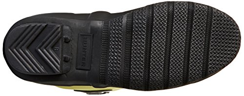 Hunter Orig Scuba Eyelet, Stivale in Gomma Unisex - Adulto, Nero/Giallo, EU 40/41 (UK 7)