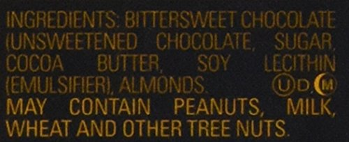 031290035533 - Godiva Chocolatier Dark Chocolate with Almond Bar, Large carousel main 2