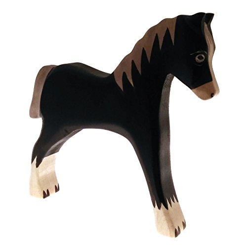 HandWoody Wooden Animal Horse Handmade Handpainted Wood Figure - Home Decor - Collectible Figurine - Natural Toy - Souvenir