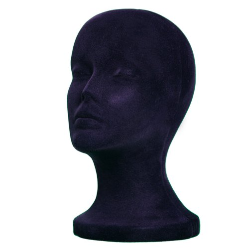 - BLACK STYROFOAM FOAM MANNEQUIN head MANIKIN wig display hat glasses