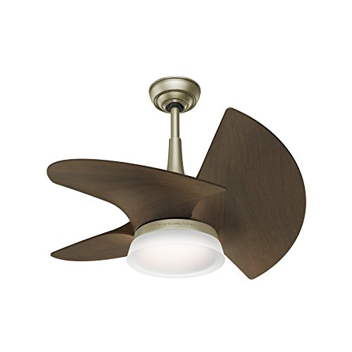 Casablanca 59138 Orchid Outdoor Ceiling Fan with Wall Control, Small, Pewter Revival