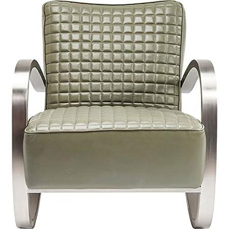 Amazonde Kare Design Sessel Design Leder Und Gebürstetem Stahl Cobra