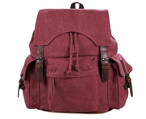 Jellybean Handgemachte Leder Abgeschnitten Leinen Rucksack,Brust Tasche, Schule, Wandern Reisetasche, Schultertasche