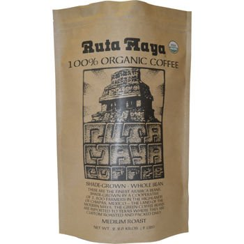 Ruta Maya Organic Medium Roast Whole Bean Coffee 5 lb. Bag