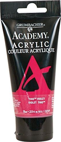 Grumbacher Academy Acrylic Paint, 75ml/2.5 Ounce Plastic Tube, Thio Violet (Acrylic Deep Violet)