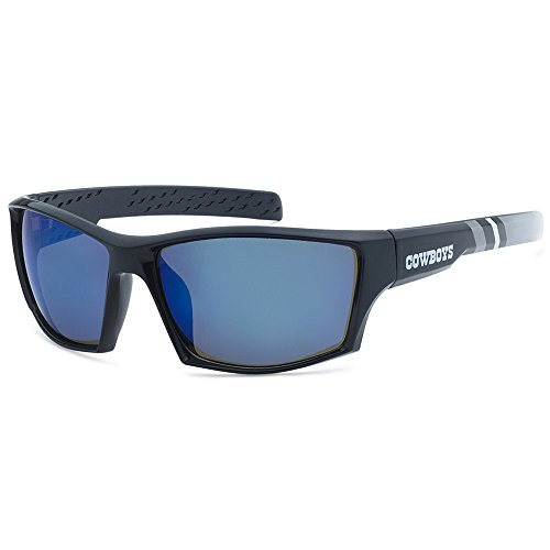NFL Striped Team Sports Wrap Polarized Sunglasses (Dallas Cowboys, Navy | Blue - Sunglasses Mens Striped