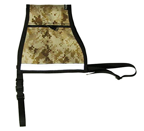 Petflect Premium Reflective Dog Vest, Desert Camouflage, - Premium Desert