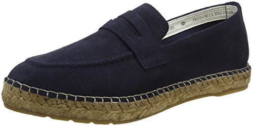 Blue la Espadrilles Blue Loafer Women's Blue 8011 Dark Slipper Fred Bretoniere de pwqvn4