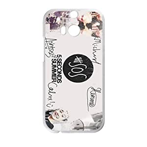 Happy 5 Seconds Of Summer Fashion Comstom Plastic case cover For HTC One M8