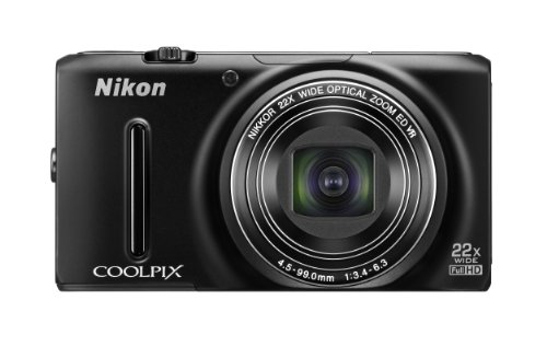 Nikon Coolpix S9500 Camera Black - 1