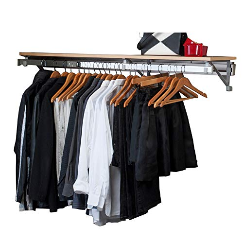 "Arrange A Space Arrrange a Space RCMSY Best 32"" Single Shelf/Hang Rod Kit Maple Closet System,"