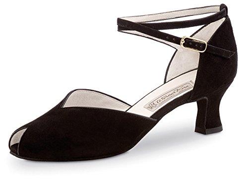 Werner Kern - Zapato de baile para mujer (tacón de 5,5 cm, piel de cabra), color negro