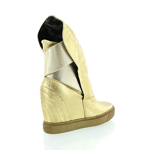Frankie Stern Bianco Guld Stretch Boot Smyga Guld