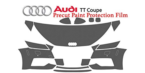 The Online Liquidator Precut Clear Bra Paint Protection Film Kit fits Audi TT Coupe 2017-2019 - Full Front Vinyl Wrap Surface Safeguard Armor Cover ()