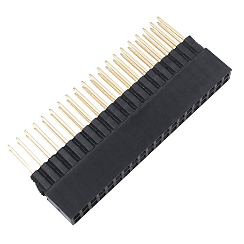 "2x20 Pins Extra Tall Female 0.1"" Pitch Stacking Header for Raspberry Pi A+ Pi Model B+ Pi 2 Pi 3 (pack of 5)"