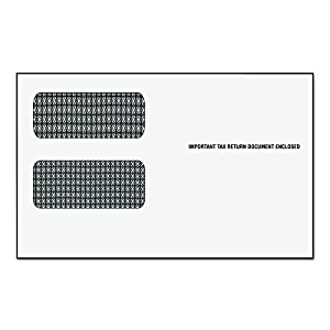 Amazon.com : TOPS Double Window Tax Form Envelopes for 1099 Misc ...