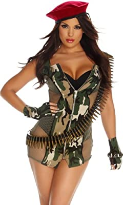 Forplay Costumes Charming Camo Dress Gloves Shorts